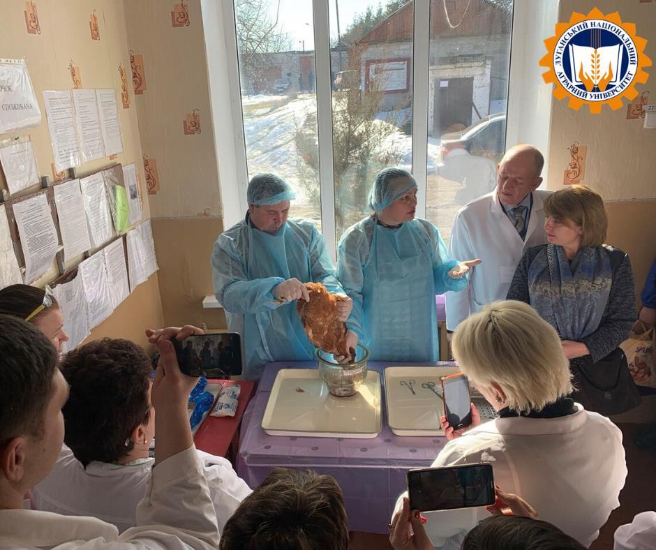 Навчання-тренінг з питань профілактики, діагностики та ліквідації грипу птиці для фахівців ветеринарної медицини Держпродспоживслужби в Луганській області